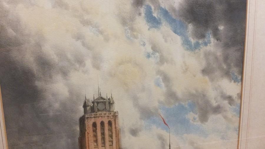 VAN STAATEN - large pair of watercolours of coasta - Image 4 of 9