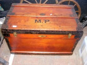 A Marshall air and watertight metal bound chest wi