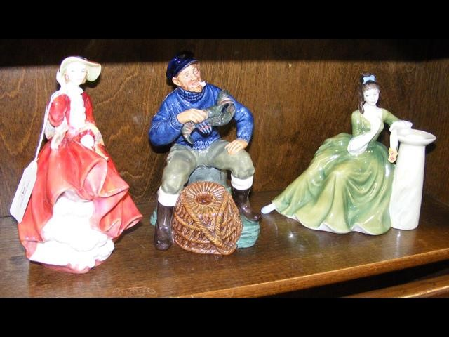 Royal Doulton figure 'The Lobster Man' together wi