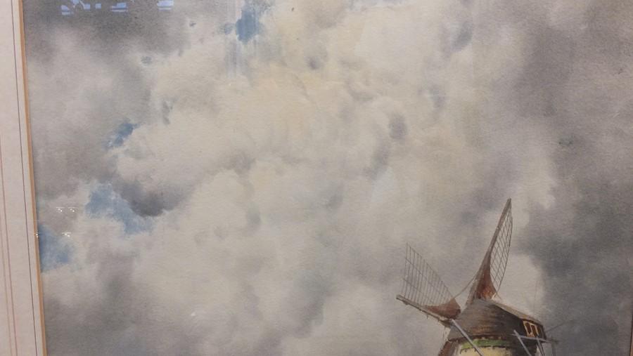VAN STAATEN - large pair of watercolours of coasta - Image 6 of 9