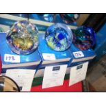 Three boxed Caithness paperweights including 'Cool