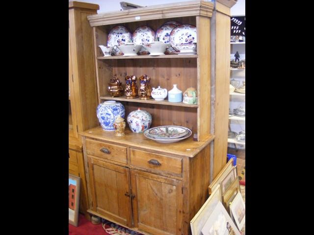 An old pine dresser - width 100cms