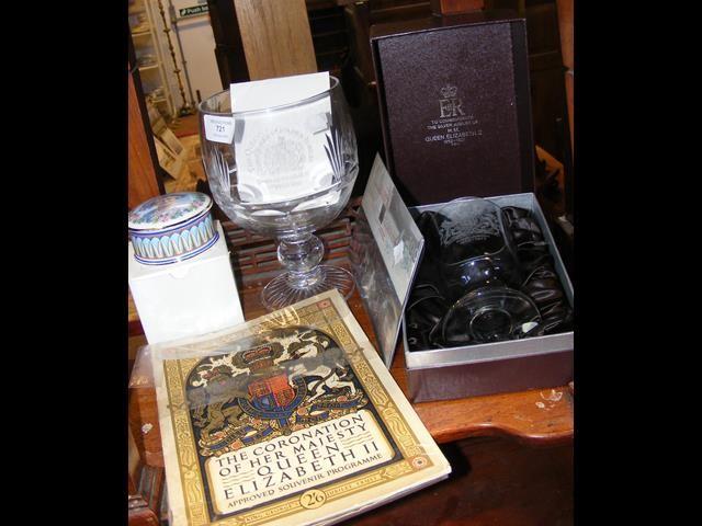 A medley of Royal memorabilia, including Coronatio