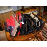 A selection of handbags and purses