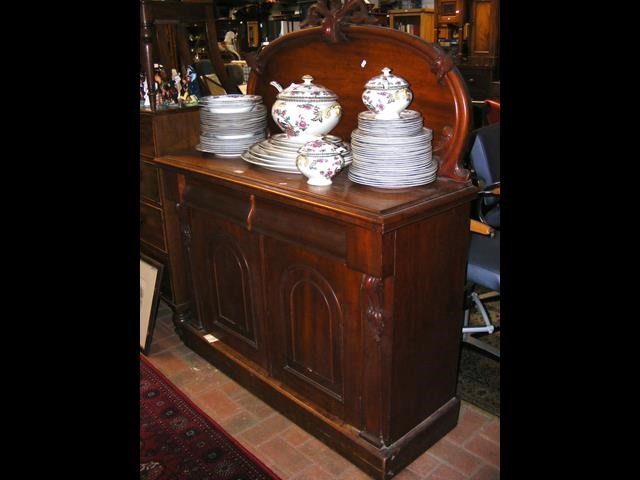 A Victorian mahogany chiffonier with shaped back - Image 2 of 2