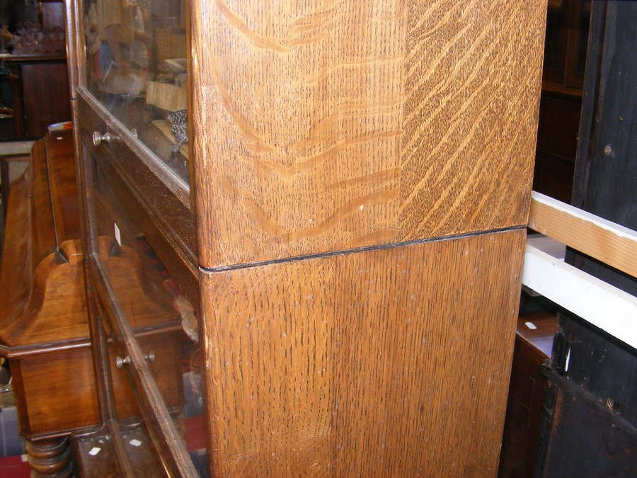A Globe Wernicke style four section bookcase - Image 5 of 6