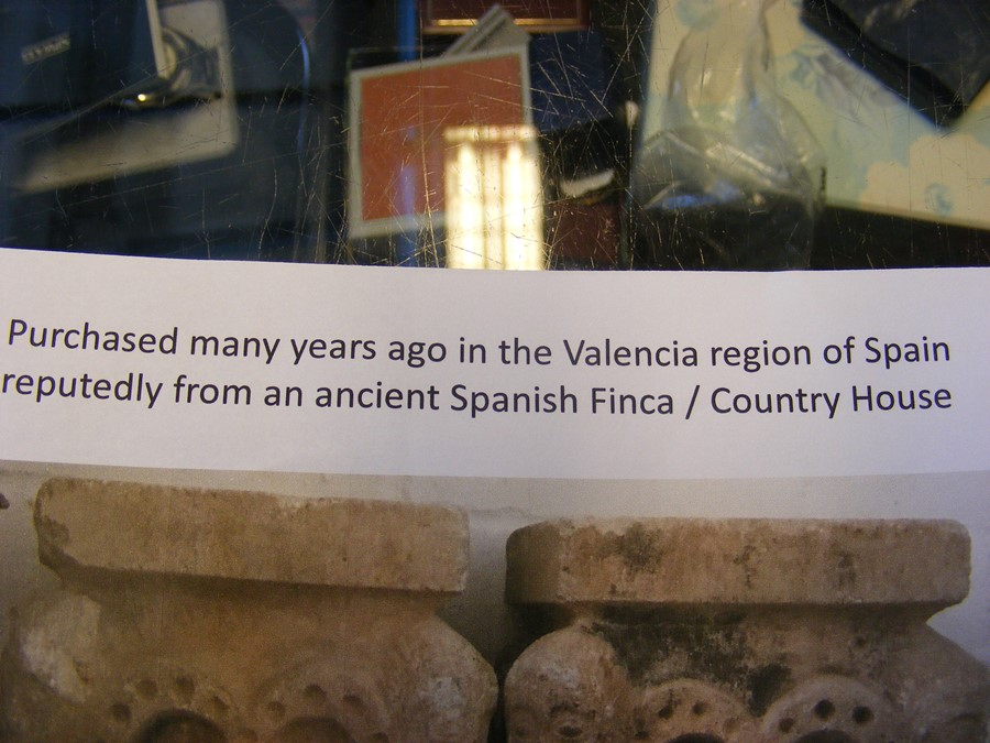 A pair of decoratively carved ancient Spanish ston - Image 2 of 12