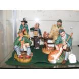 Five Royal Doulton figurines - 'The Master', 'The