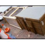 An 'as new' small animal hutch