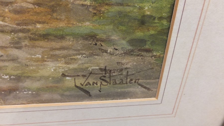VAN STAATEN - large pair of watercolours of coasta - Image 7 of 9