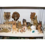 A collection of Alsatian and other animal ornament