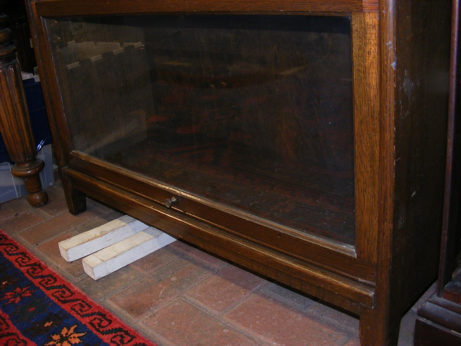 A Globe Wernicke style four section bookcase - Image 4 of 6