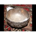 A 10.5cm diameter Indian silver bowl