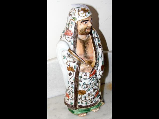 A Japanese figure of Buddhist celebrity - 28cms hi