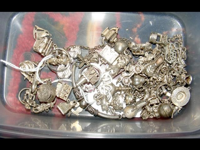 A selection of silver charms