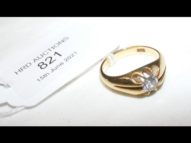 A diamond solitaire ring in 18ct setting