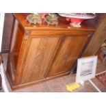 A 19th century mahogany two door cupboard - 110cms