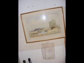 JACK AMEY - watercolour 'Seaview from Springvale B