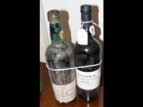 A bottle of Taylor's 1970 Vintage Port, together w