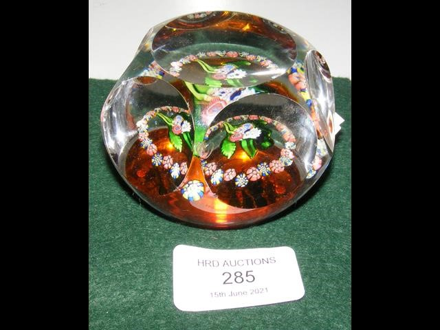 A multi-faceted St Louis 19th century paperweight