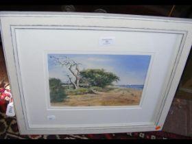 SALLY HAMILTON - an original watercolour - coastal