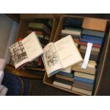 Two boxes of Folio Society books