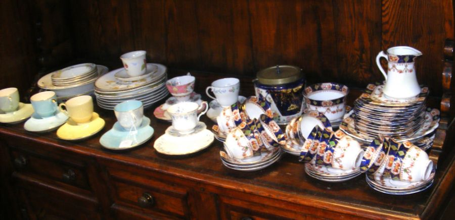 A selection of tea cups, saucers and plates etc