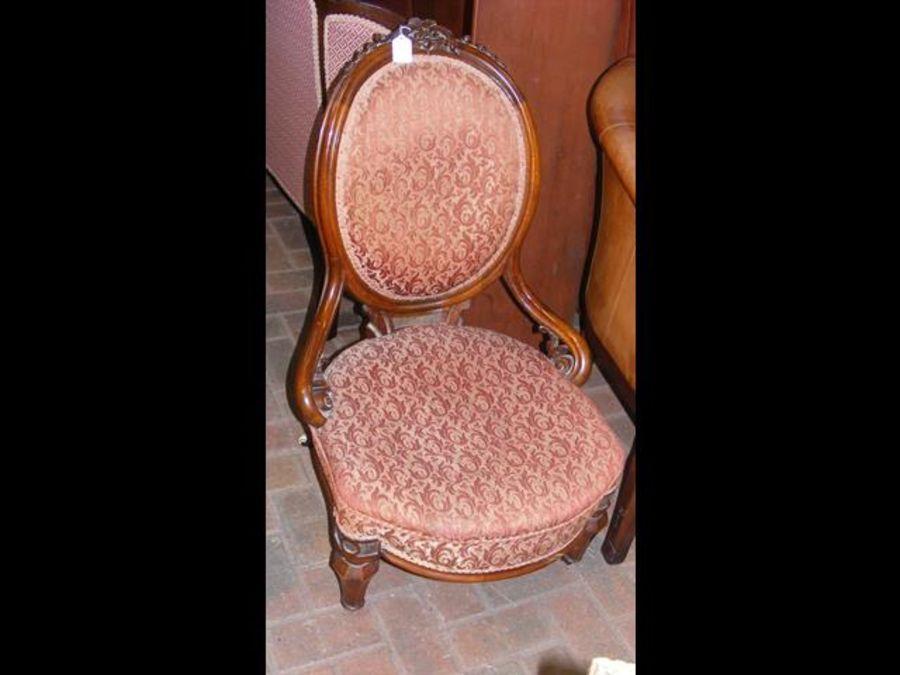 A Victorian nursing chair