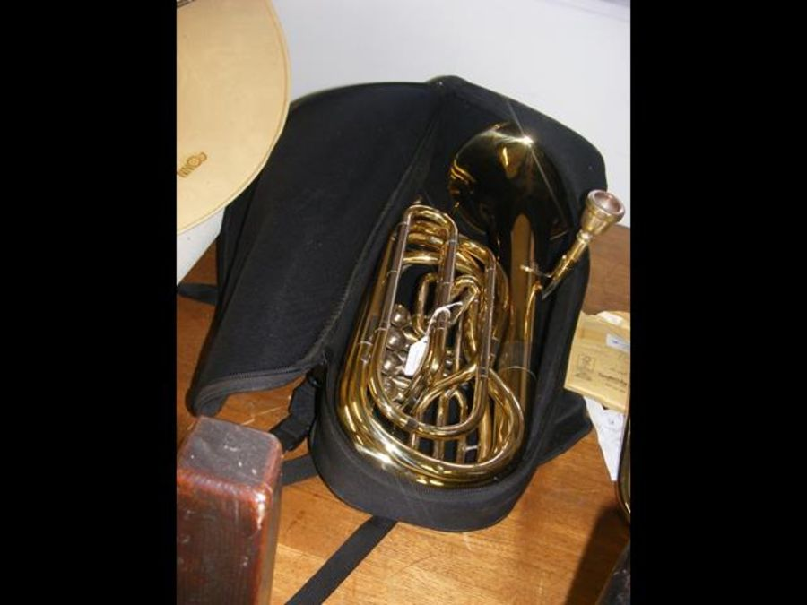 A Wessex tenor horn in soft case complete with mo