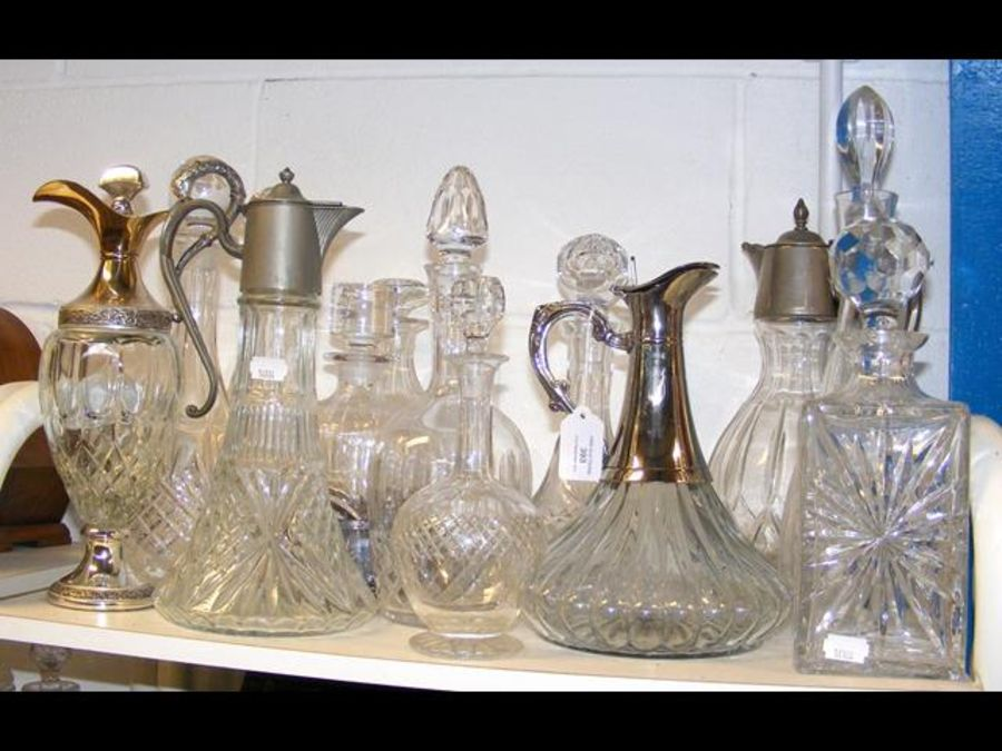 A cluster of cut glass decanters - Image 2 of 2
