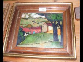 BERYL TURPIN - an enamel picture on copper of rura
