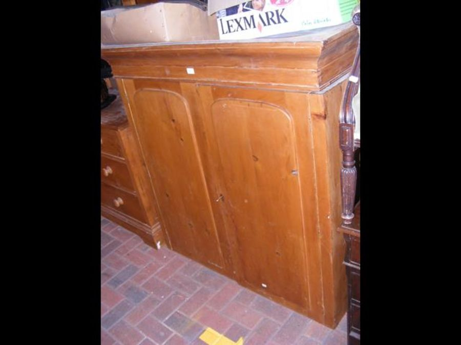 An old pine cabinet