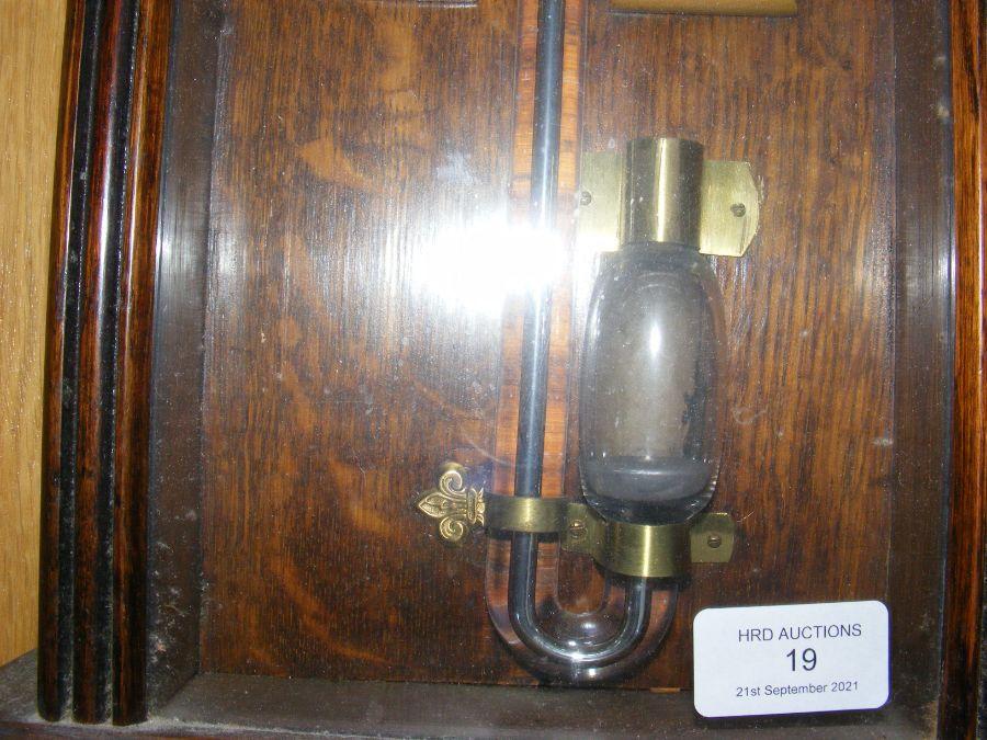 A Royal Polytechnic barometer in oak case - Image 2 of 3
