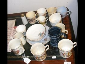 A selection of commemorative ware