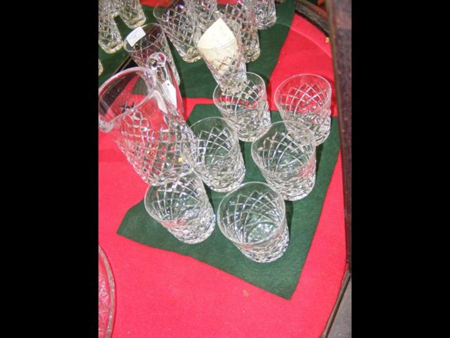 A set of six Waterford cut glass tumblers 'Tyrone