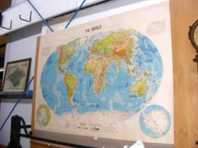 An old Phillips Series of a large school room map