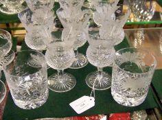 A suite of eight Edinburgh crystal wine glasses wi