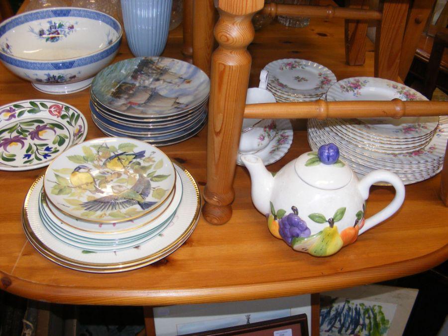 An assortment of tableware including Royal Albert