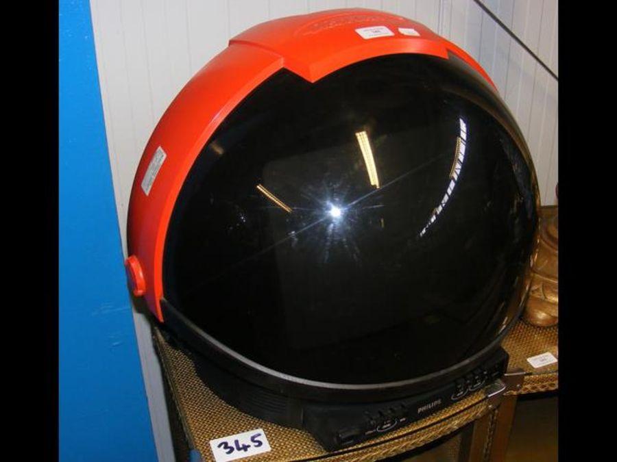 A retro Discoverer 'Space Helmet' TV