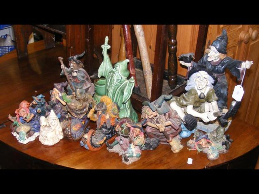 A collection of ornamental witches and magicians - Image 2 of 2
