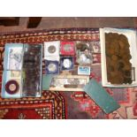 Selection of collectable coins and notes, includin