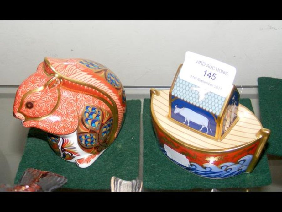 A Royal Crown Derby 'Noah's Ark' paperweight, toge - Image 2 of 2