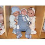 Three Heirloom quality Reborn Baby Dolls