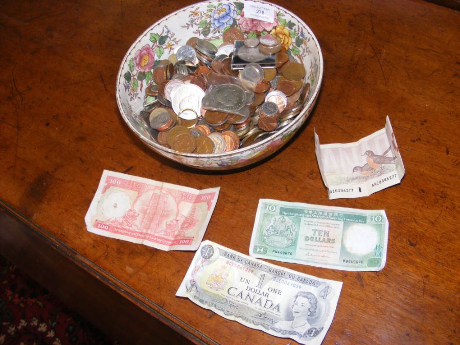 Various collectable coins, bank notes etc