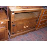 A pine TV cabinet