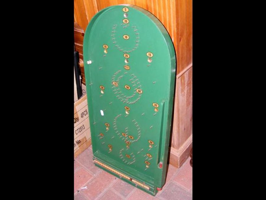 A Chad Valley bagatelle board