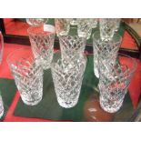A suite of six Waterford 'Tyrone pattern' tall tum