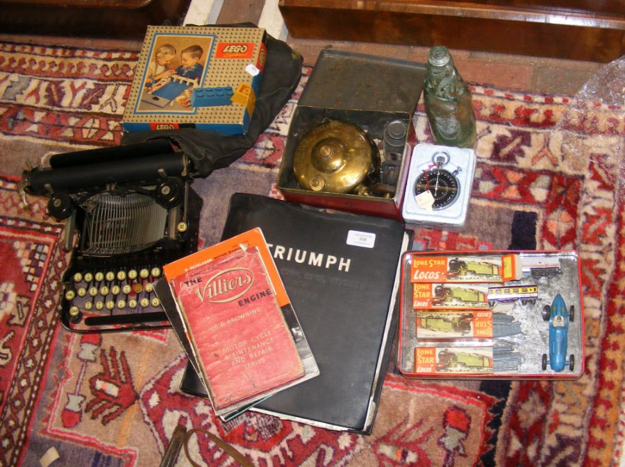 Various collectables, including a typewriter, Triu