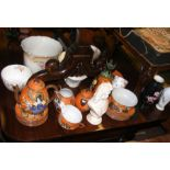 An Oriental tea set together with other ceramic wa