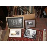 A quantity of framed and glazed photographs, mostl